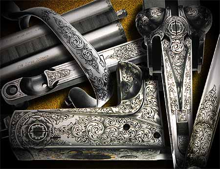 .470 Double rifle engraved