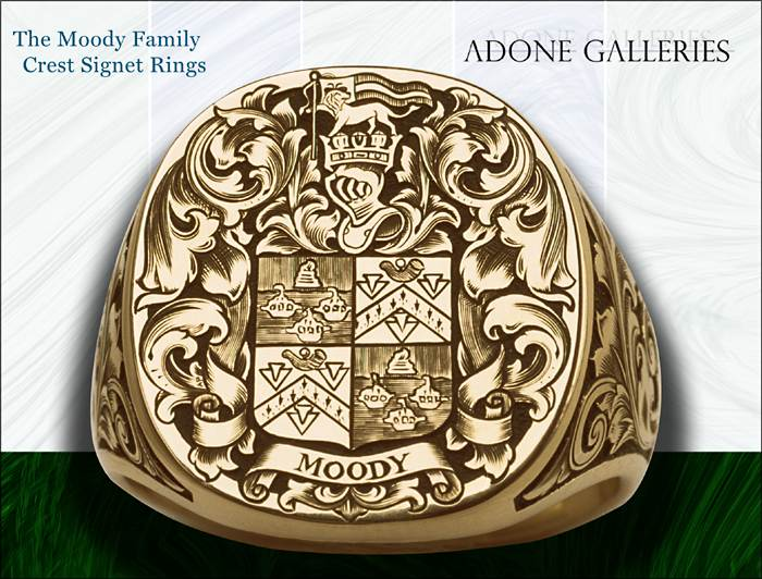 Family Crest Rings on 14k Gold 19mm Top Table  Man S Family Crest Ring