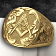 Freemason signet rings